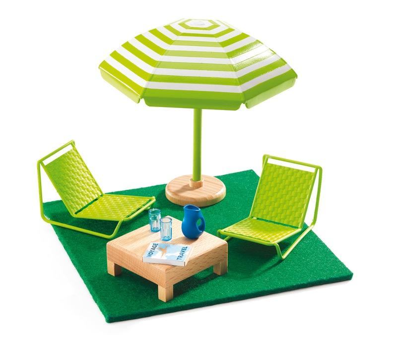 Djeco Dolls House Terrace Furniture