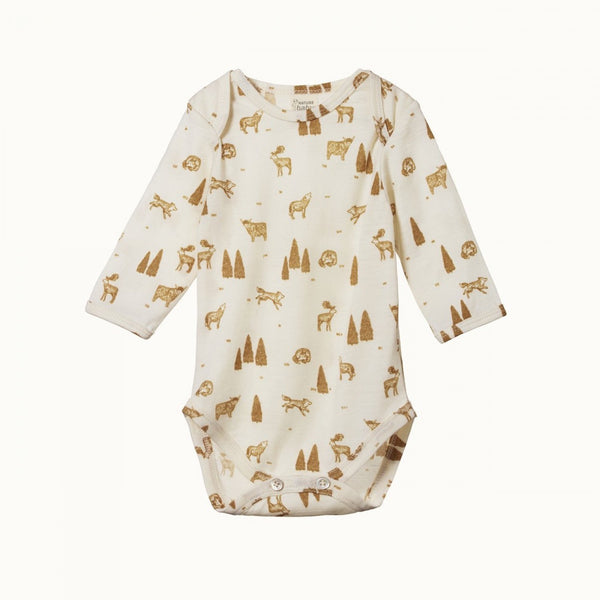 Nature Baby Merino L/S Bodysuit - Wilderness