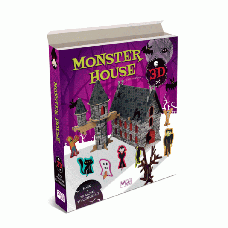 Sassi 3D Monster House w Book