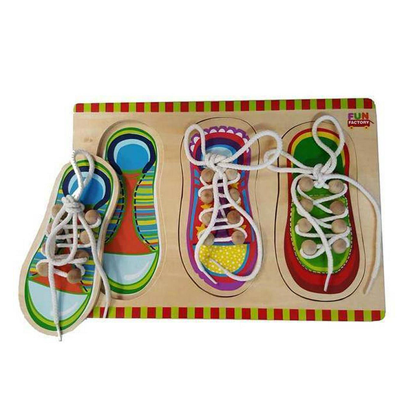 Wooden Puzzle - Shoe Lacing