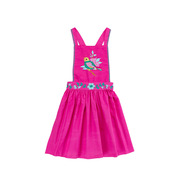 Coco & Ginger Pomme Pinafore - Cerise