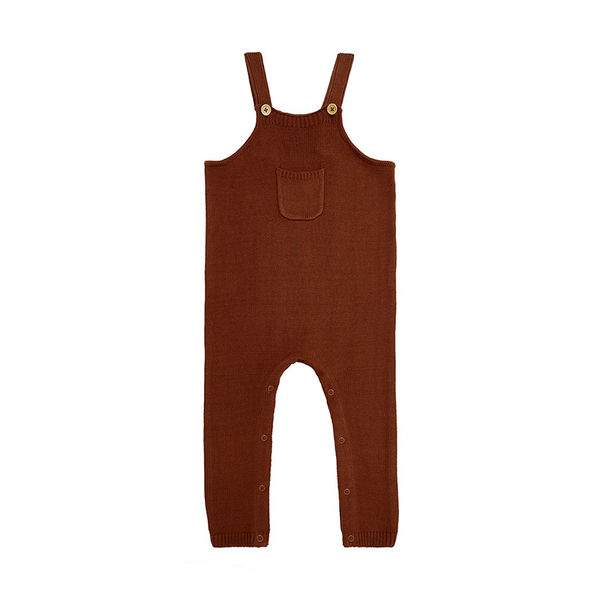 Miann And Co Knit Overalls - Rust