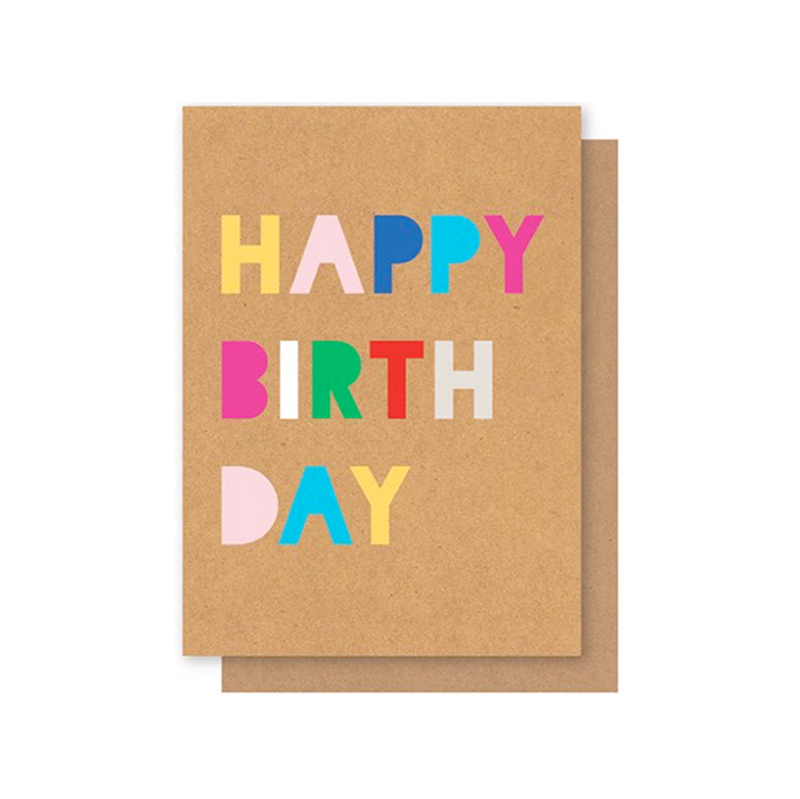 Elly Oak Card Happy Birthday Bubble Writing Shorties Childrens Store