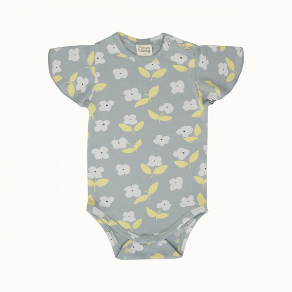 Nature Baby Petal Bodysuit - Meadow Blue Mist