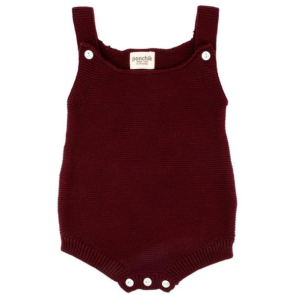 Ponchik Knitted Romper - Mulberry