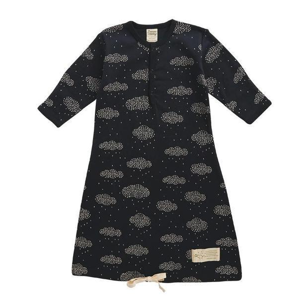Nature Baby Gown - Rain Cloud Navy
