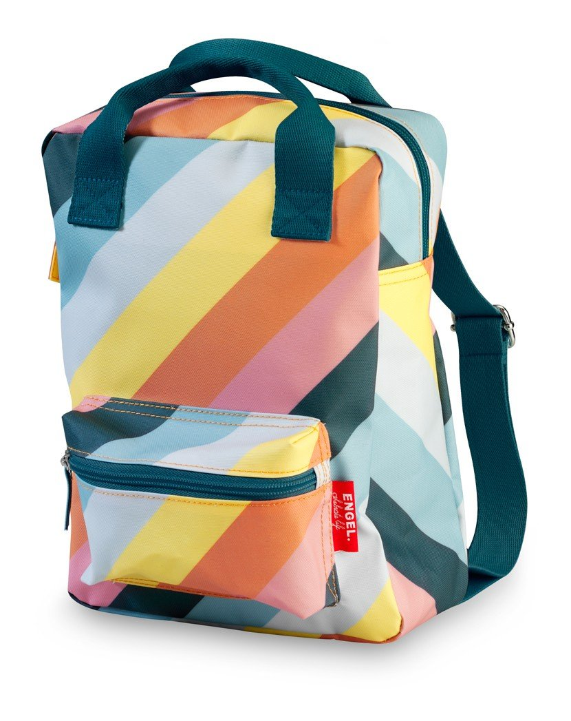 Engel Small Backpack - Rainbow Stripe