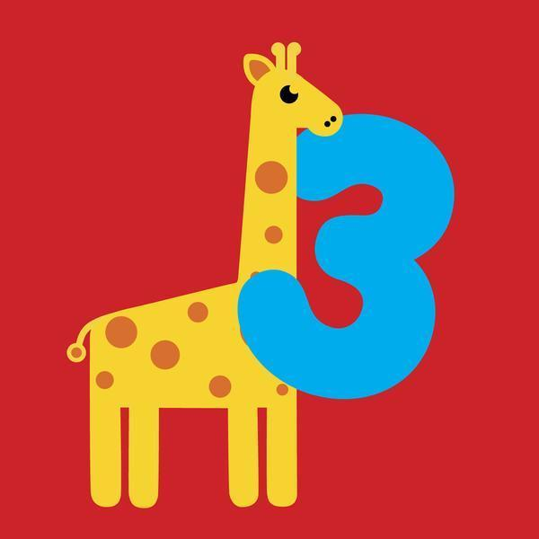 Scoops Card - Age 3 Giraffe