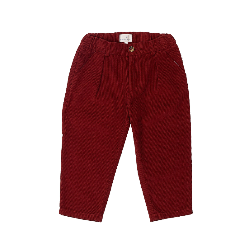 Goldie & Ace Cord Mini Chino - Maroon