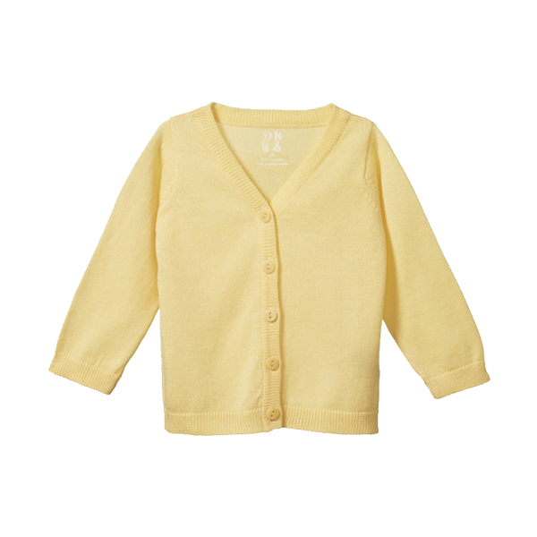 Nature Baby Light Cotton Knit Cardigan - Lemon