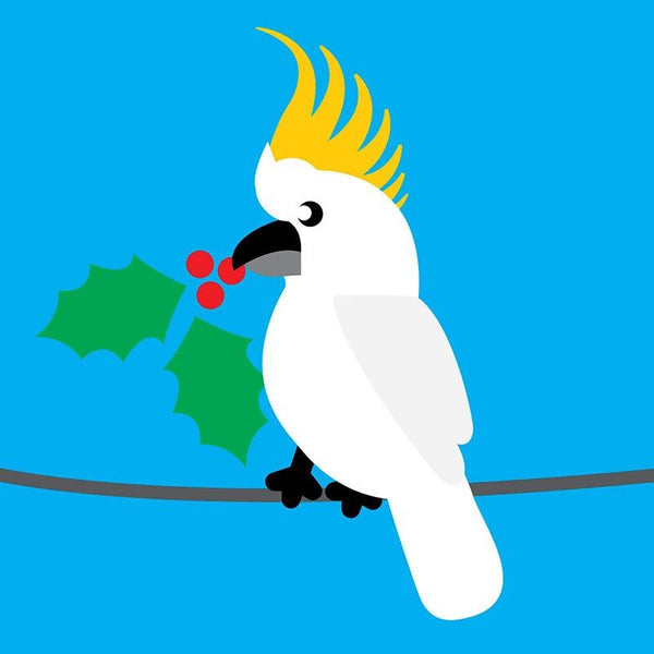 Scoops Christmas Card - Cockatoo