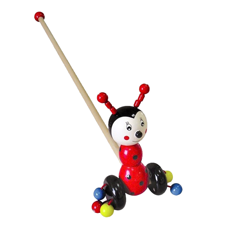 Wooden Push Toy - Ladybird