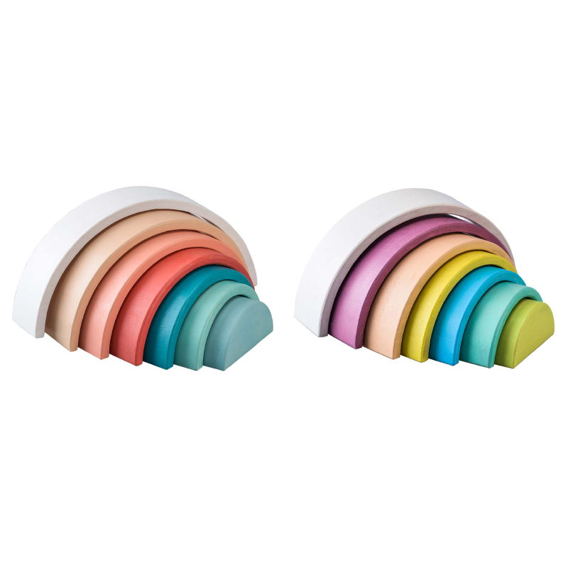 Wooden Stacking Rainbow Assorted