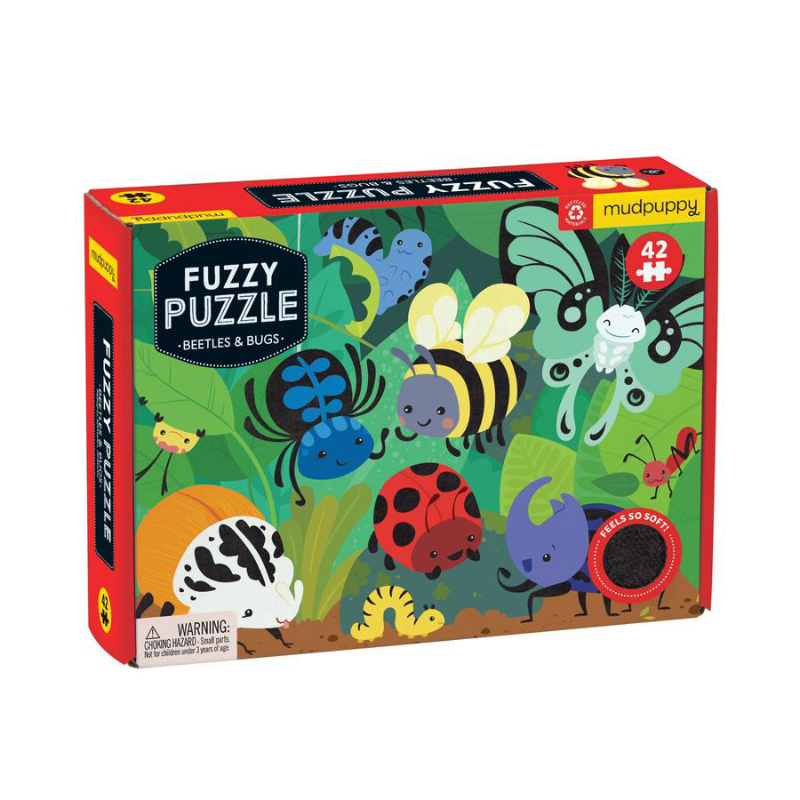 Mudpuppy 42PC Fuzzy Puzzle - Beetles