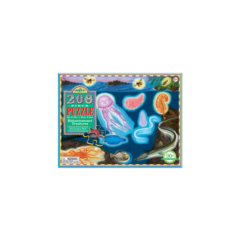 Eeboo 208 Pc Puzzle - Bioluminescent