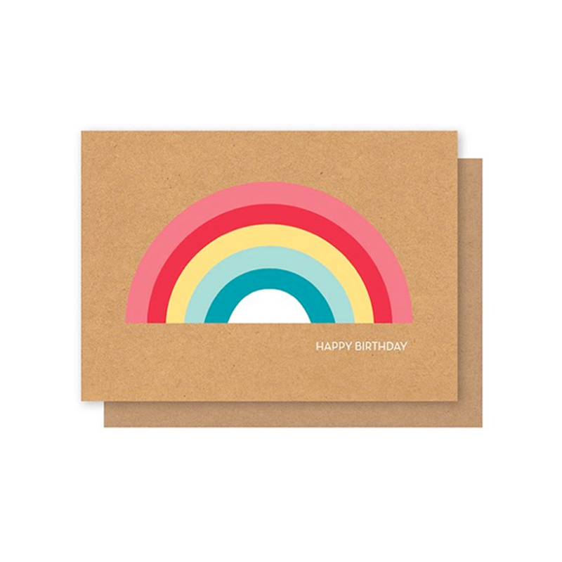 Elly Oak Card - Rainbow
