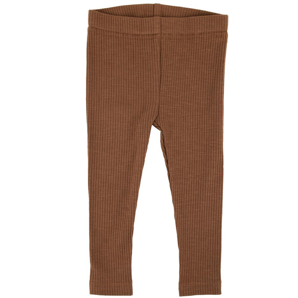 Ponchik Cotton Ribbed Leggings - Maple Syrup