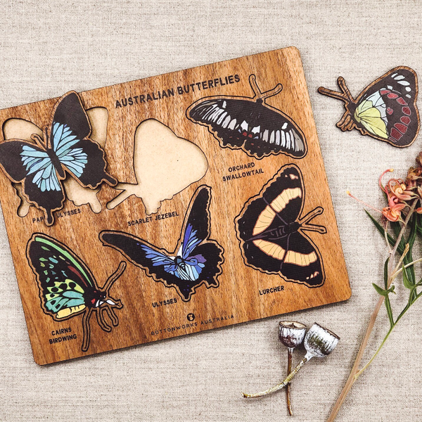 Buttonworks Puzzle - Australian Butterfly