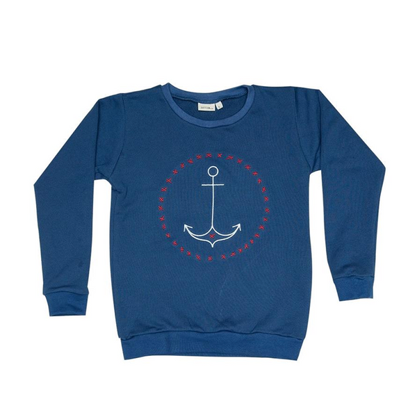 Zuttion Embroidery Sweater - Anchor Navy