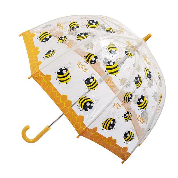Clifton birdcage children's umbrella transparent with bees