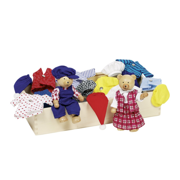 Goki Flexible Puppets - Bear Dress Up Box