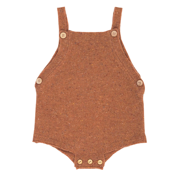 Grown Speckle Merino Romper - Clay