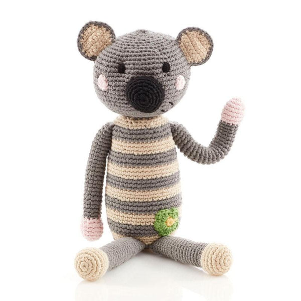 Pebble Crochet Rattle - Koala