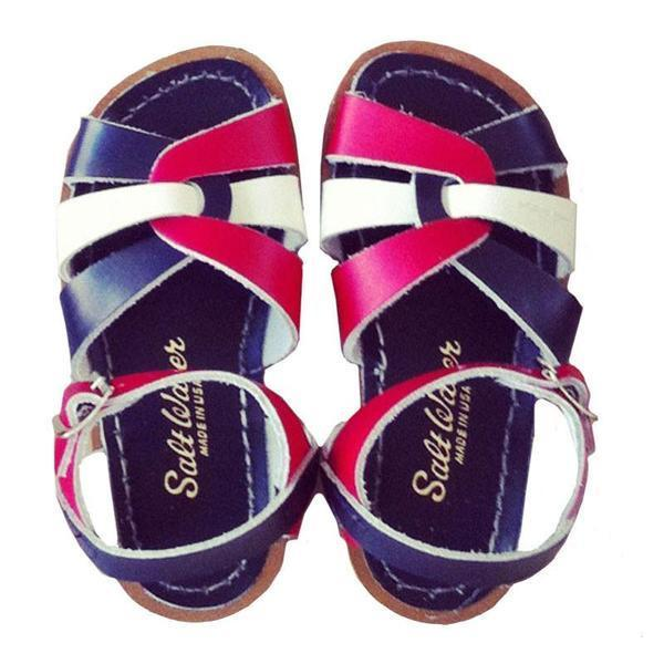 Saltwater Original Sandals - Navy salt water kids footwear retro summer children's shoes shorties boy and girl