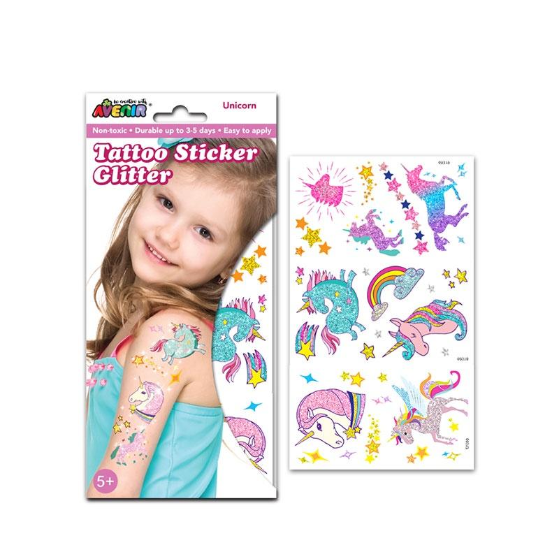 Avenir Glitter Tattoo Unicorn