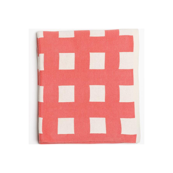 Emotion Kids Bassinet Blanket - Watermelon Check