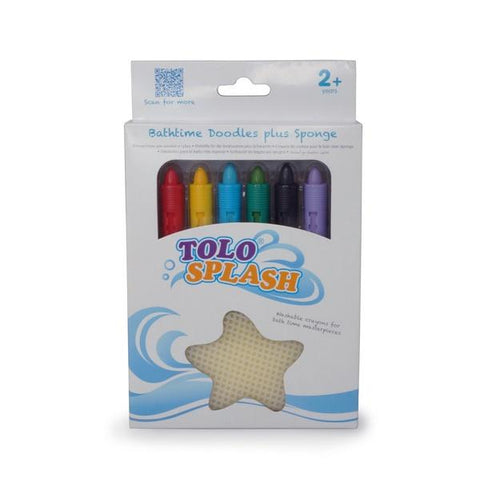 Bath Time Crayons w Sponge