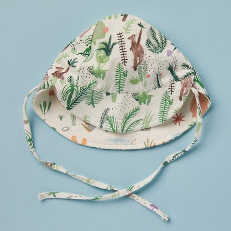 Halcyon Nights baby hat Fern Gully Outback Print. clothing, onesies, wraps and hats. Australian design, australiana print.