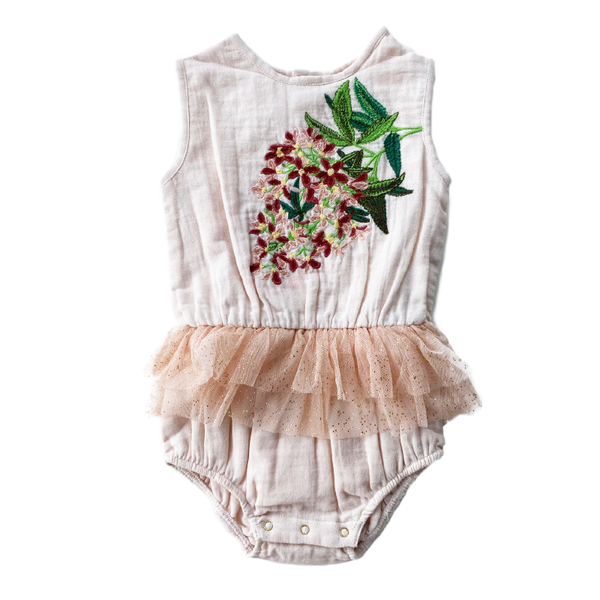 Bella & Lace Snowflake Romper - Sugarplum