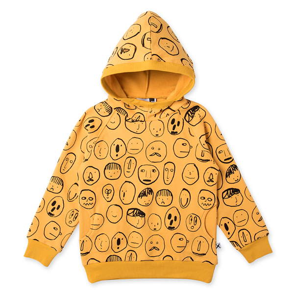 Minti Spectators Furry Pocket Hood - Mustard