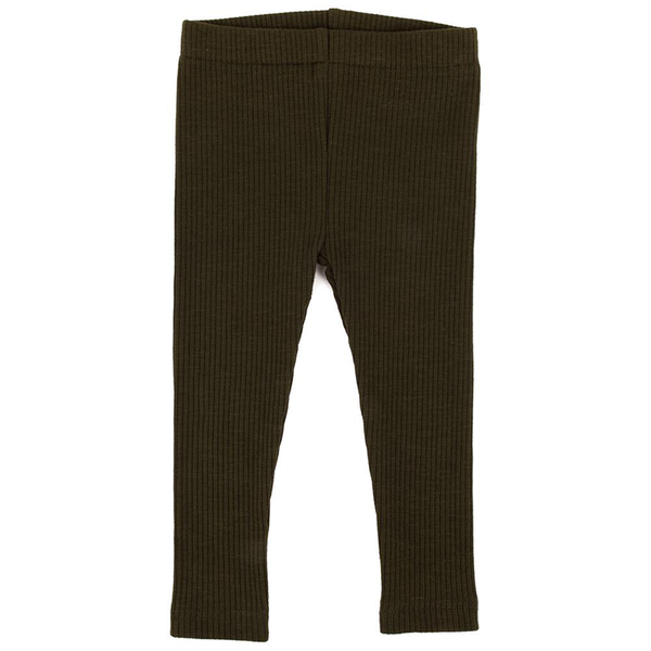 Ponchik Cotton Ribbed Leggings - Moss Green