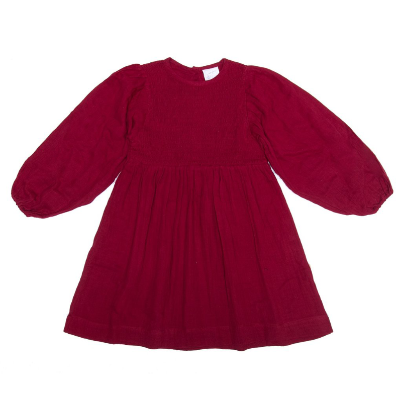 Alex & Ant Lily Smock Dress - Berry