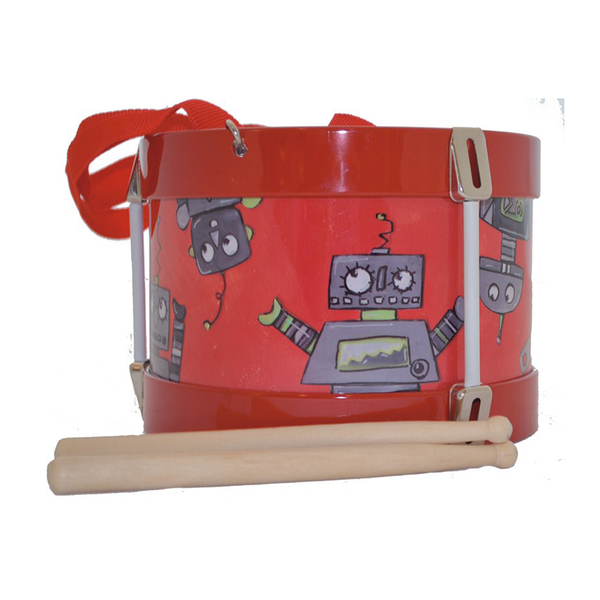 Egmont Tin Drum With Balls - Robot