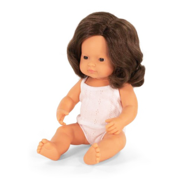 Miniland Doll - Large Caucasian Brunette Girl