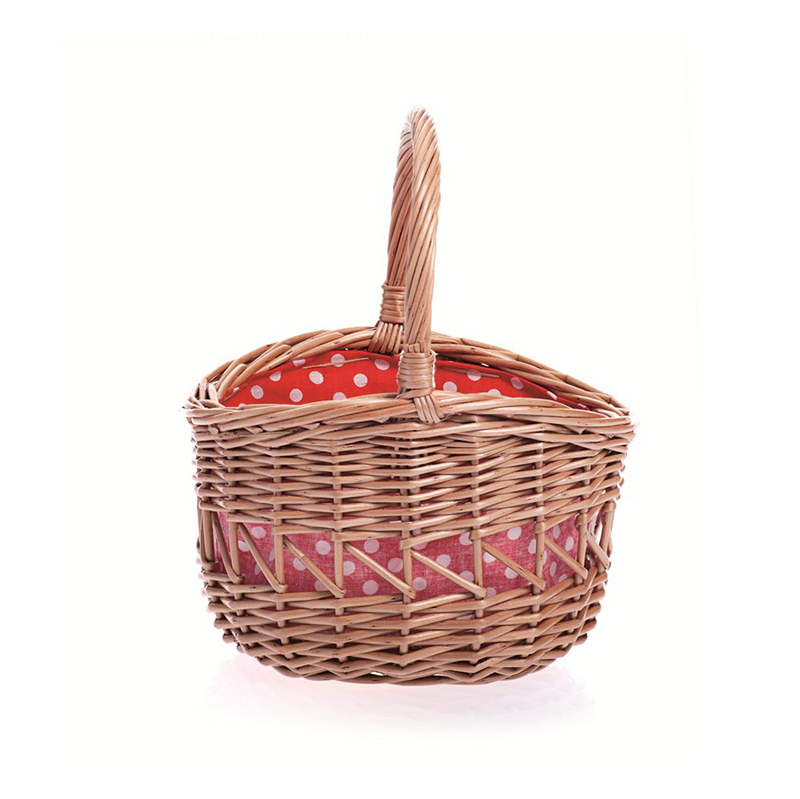 Egmont Round Basket - Red/White Spot