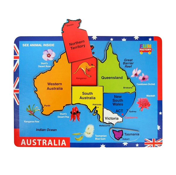 Fun Factory Raised Jigsaw Puzzle - Australia Map