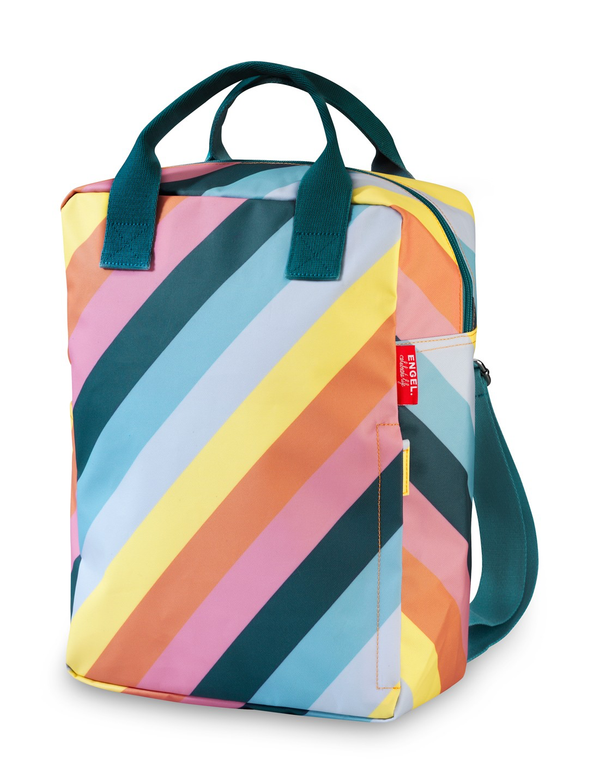 Engel Large Backpack - Rainbow Stripe