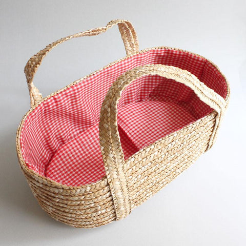 Lovely retro Straw Dolls Basket from Shorties