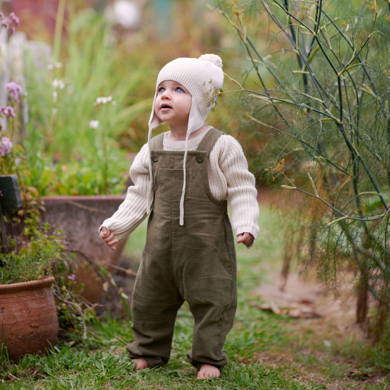 Nature Baby Tipper Overalls - Cypress