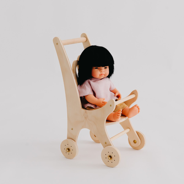 Pretty In Pine Shell Dolly Pram