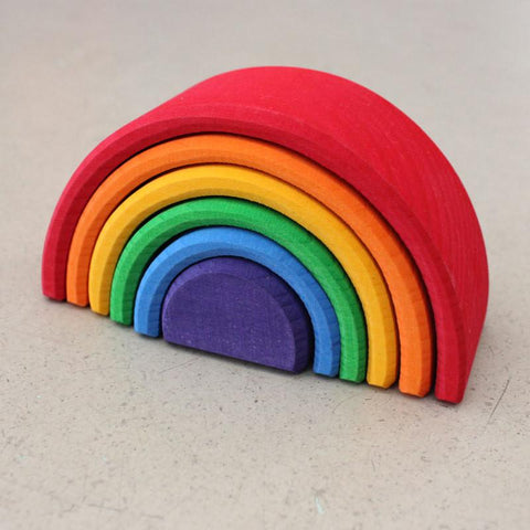 Mini Wooden Rainbow by Grimms