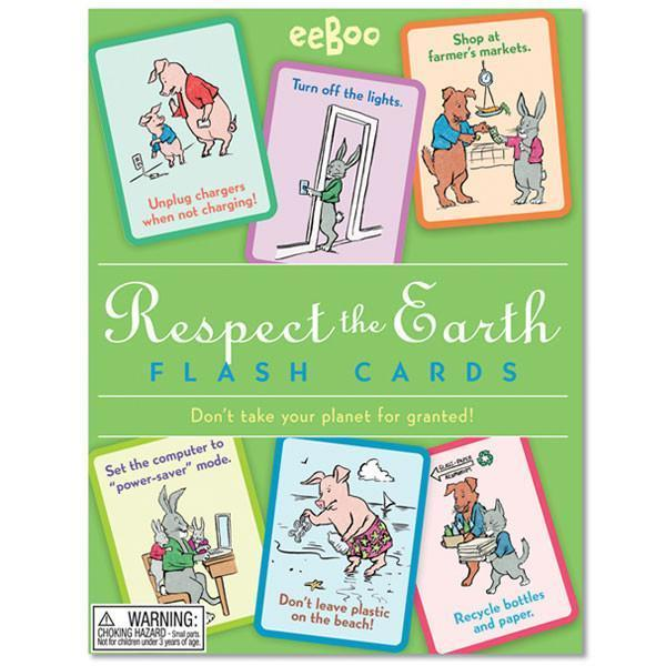 Respect the Earth Flash cards by Eeboo