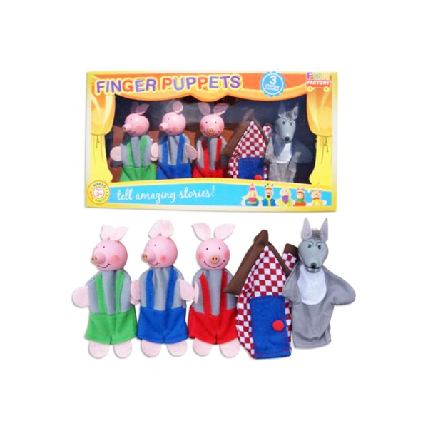 Finger Puppet 5PC Set - 3 Little Pigs