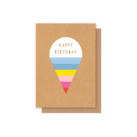 Elly Oak Card - Stripey Ice Cream
