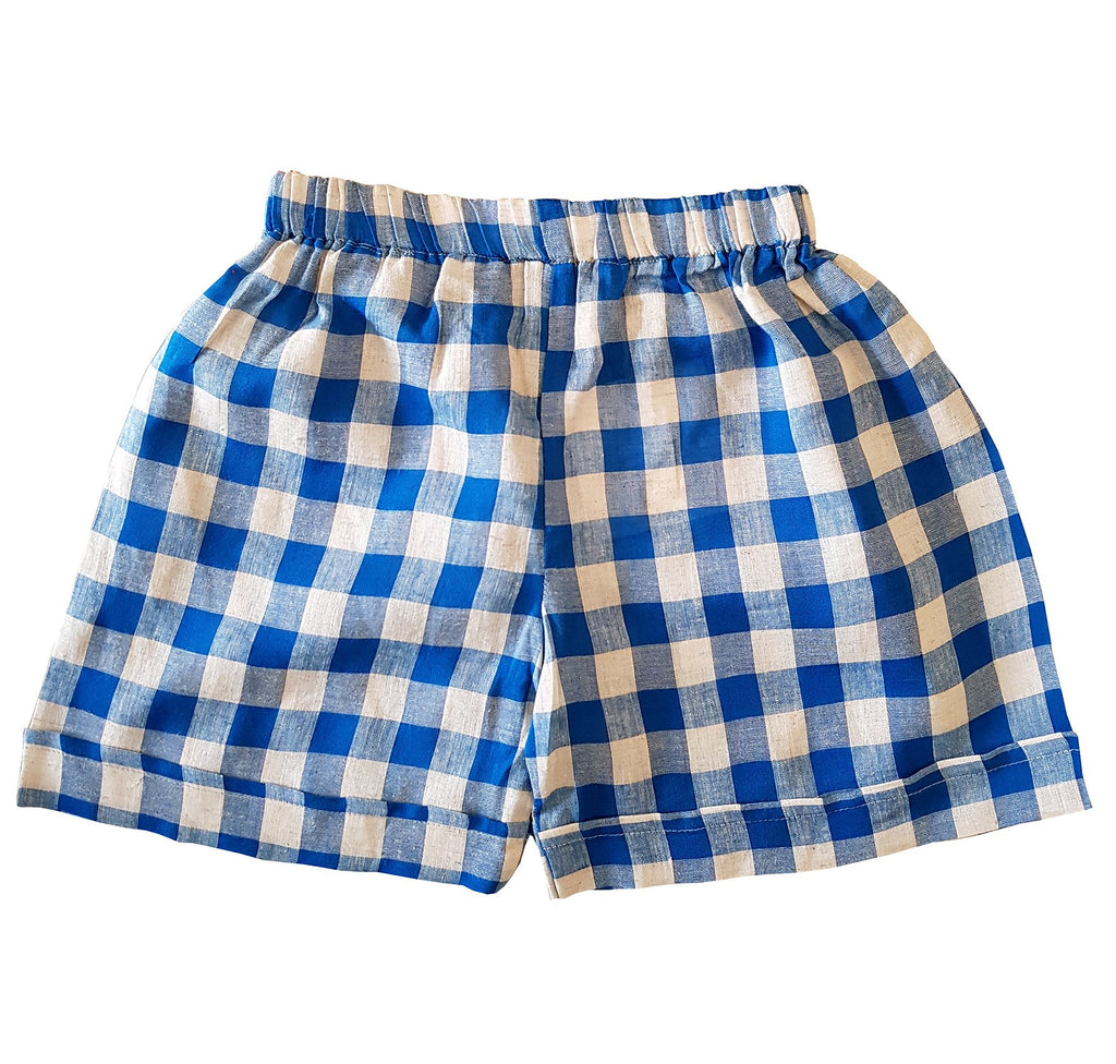 Little Allannah May Shorts - Blue Gingham