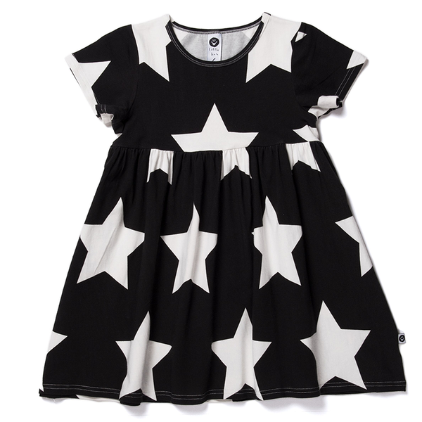 Littlehorn Stars Dress Black